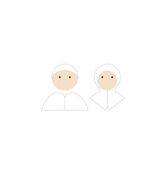muslim kids icon flat isolated vector image