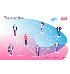 Network connecting professional people global vector