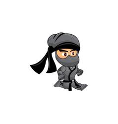 Ninja game sprites slide suitable for side vector
