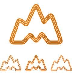 Orange landscape adventure logo design set vector