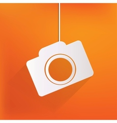 Photo camera web iconflat design vector