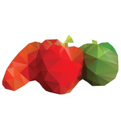 Polygonal Vegetables vector image