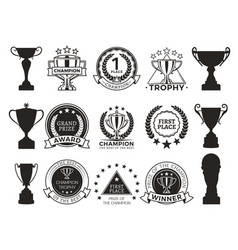 prize and awards collection vector image