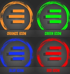 Right-aligned icon sign Fashionable modern style vector