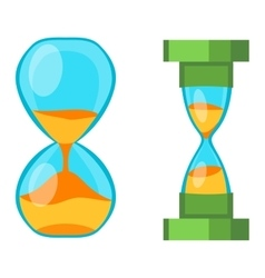 Sand clocks isolated vector image