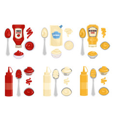 Sauce kitchenware realistic composition vector