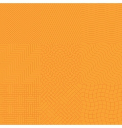 Seamless abstract orange pattern vector image