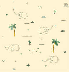 seamless pattern background with african funny vector image