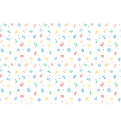 Seamless pattern of kids toys baby background vector