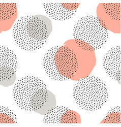 Seamless pattern with round dotted elements and vector