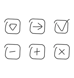 Set icon vector image