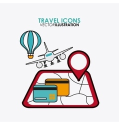 set icons of travel design vector image