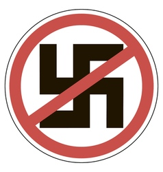 sign of ban fascism vector image