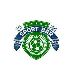 Soccer bar or football sport pub icon vector