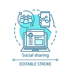 Social sharing concept icon referral marketing vector