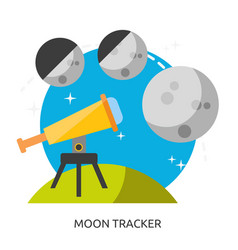 Space moon tracker image vector