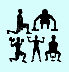 sport training action silhouette vector image