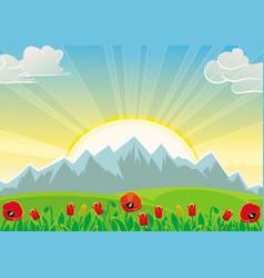 Spring sunrise vector