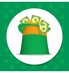 st Patrick irish hat vector image