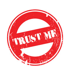 trust me rubber stamp vector image