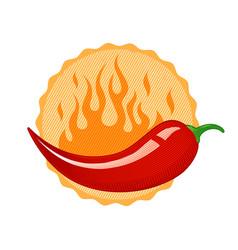 Vintage chilli pepper vector