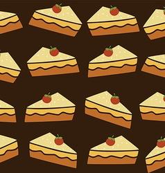 Cherry top tart cake vector