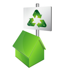 eco house symbol vector image vector image