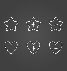 Favorite set icons draw effect vector image vector image