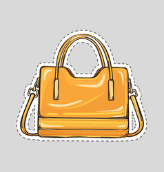 ladies handbag with handle and clips isolated vector image vector image