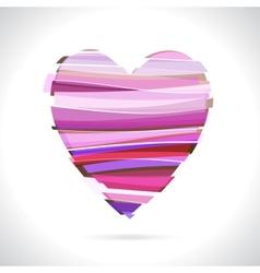 Red Broken Heart vector image