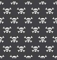 seamless pattern white skulls with bones on a vector image vector image