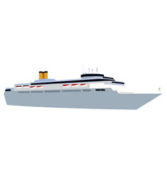 Ship side view vector