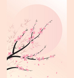 branches with flowers vector image vector image