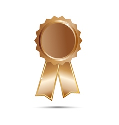Bronze Seal Award Ribbon on white background vector image vector image