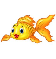 Cartoon Goldfish on Transparent Background vector image vector image
