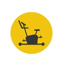 Exercise bike icon silhouette vector image