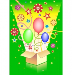 surprise in the box vector image vector image