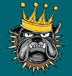 THE KING vector image