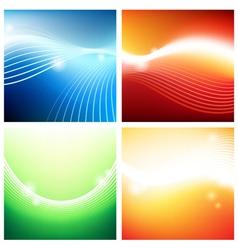Vivid backgrounds of streams vector image