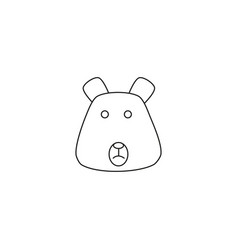 animal bear icon vector image vector image