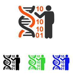 dna code report flat icon vector image vector image
