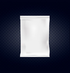 food snack pillow bag isolated on transparent vector image vector image