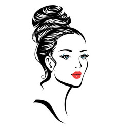 girl with hairdress vector image vector image