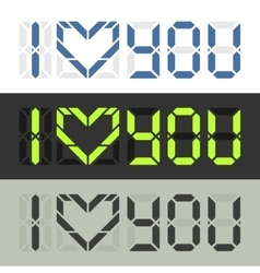 I love you Nerd style feelings confession vector image vector image
