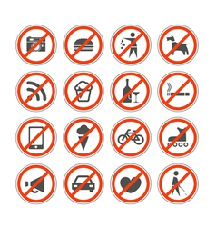 Urban signs collection vector image