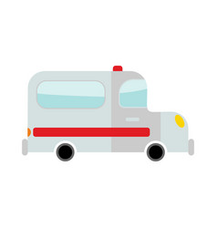 ambulance isolated transport on white background vector image vector image