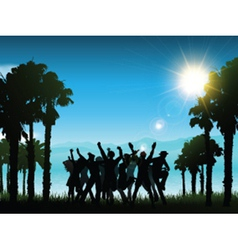 party in tropical landscape 1706 vector image
