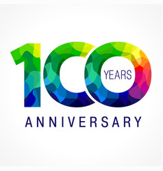 100 anniversary color logo vector