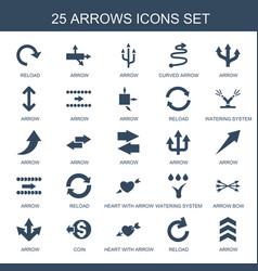 25 arrows icons vector