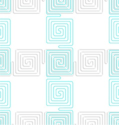 3D white spiral squares with blue crossing vector